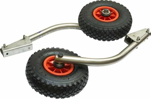Транцевые колеса из нержавейки СК-4 (быстросъемные) + сумка