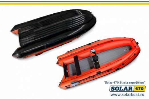 Лодка ПВХ SOLAR-470 Strela Jet tunnel (Expedition)