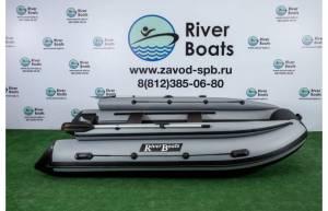 Лодка ПВХ RiverBoats RB 390 (НДНД) + Фальшборт